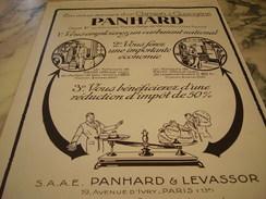 ANCIENNE PUBLICITE LE CAMION A GAZOGENE DE PANHARD 1927 - Camions