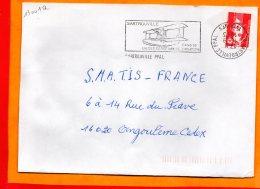 YVELINES, Sartrouville, Flamme SCOTEM N° 13001a, Dateur Inversé - Marcophilie (Lettres)
