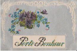 Carte Fleurie Porte Bonheur - Fantaisies