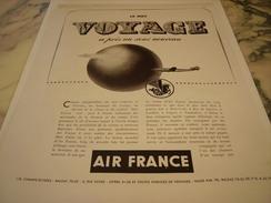 ANCIENNE AFFICHE  PUBLICITE LE MOT VOYAGE AIR FRANCE - Publicités
