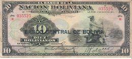Bolivia - Pick 114 - 10 Bolivianos 1929 - VG+ - Bolivia
