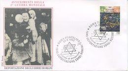 ITALIA - FDC  ROMA 1993 -  DEPORTAZIONE EBREI ROMANI - ANNULLO SPECIALE - 6. 1946-.. Repubblica