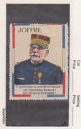 France WWI General Joffre -  Vignette  Military Heritage Poster Stamp - Commemorative Labels