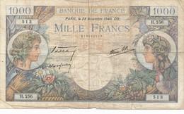 G501 - Billet De 1000 Francs - Commerce Et Industrie - 228 Novembre 1940 - 1871-1952 Circulated During XXth