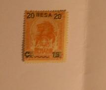 ITALIA , REGNO, SOMALIA 1923  LEONE 20 BESA SU SU CENT 15 SU 2A  BRUNO MNH** - Somalia
