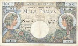 G501 - Billet De 1000 Francs - Commerce Et Industrie - 19 Décembre 1940 - 1871-1952 Circulated During XXth