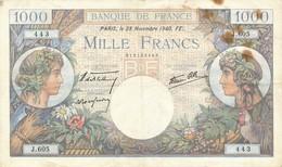 G501 - Billet De 1000 Francs - Commerce Et Industrie - 28 Novembre 1940 - 1 000 F 1940-1944 ''Commerce Et Industrie''