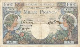G501 - Billet De 1000 Francs - Commerce Et Industrie - 28 Novembre 1940 - 1871-1952 Circulated During XXth