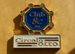 ITALIA , FERMACARTE IN BRONZO LUCIDO SMALTATO DEL CIRCOLO DEGLI OTTO - Presse-papiers
