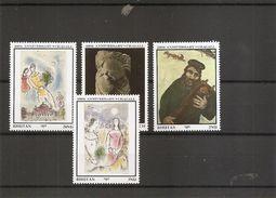 Peintures - Chagall ( 770/773 XXX -MNH- Du Bhoutan) - Arts