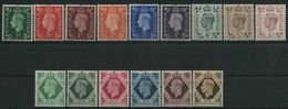 1937-47 Gran Bretagna, Effige Giorgio VI, Serie Completa Nuova (**) - 1902-1951 (Re)