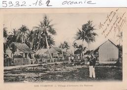 Océanie : Iles Tuamotou  -  Village D'avatoru  Ile Rairoa   ( Carte Timbree ) - Zonder Classificatie