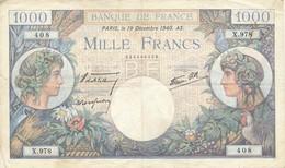 G501 - Billet De 1000 Francs - Commerce Et Industrie - 19 Décembre 1940 - 1 000 F 1940-1944 ''Commerce Et Industrie''