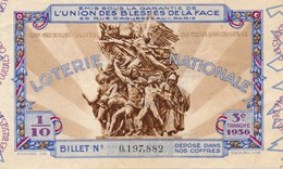 G501 - Billet De Loterie Nationale 1/10 - L'Union Des Blessés De La Face - N° 0197882 - Année 1936 - Lottery Tickets