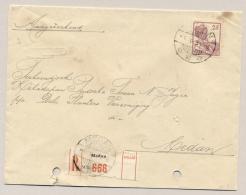 Nederlands Indië - 1934 - 25 Cent Wilhelmina Met Scheepje Op Lokale R-cover Medan/12 - Nederlands-Indië