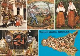 Postcard Folklore Di Sicilia PU 1978  My Ref B22045 - Italy