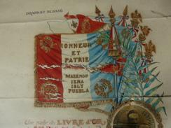 AQUARELLE Livre D'or Du 81 éme Régiment D'infanterie Drapeau Blessé 1914 Au Bois D'Haudonville - 1914-18