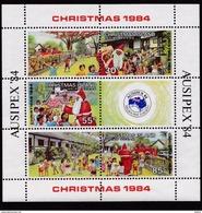 Christmas Island (Sc # 161)  MNH  (Sheet Of 3 + 3 Labels ) Christmas, Ausipex 84  (1984)2s - Christmas Island