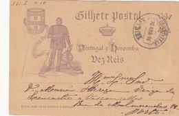 Portugal -Carta  Postal -Lisboa -Porto -30 -4 1894 - Otros