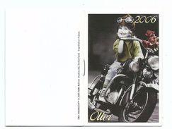 Calendrier De Poche 2006 Agenda Carnet OLLER Publicité Fillette à Moto Bon Etat - Calendriers