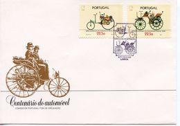 PORTUGAL  -   1986 100TH ANNIVERSARY OF THE AUTOMOBILE    FDC1328 - FDC
