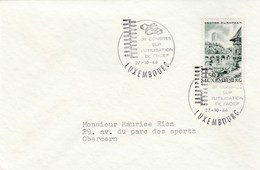 1966 Luxembourg USES Of STEEL CONGRESS EVENT COVER Industry Minerals Stamps - Minéraux