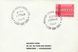 1971 ARDENNES EIFEL EUROPEAN CONGRESS EVENT COVER Insenborn Luxembourg Stamps EUROPA - Europa-CEPT