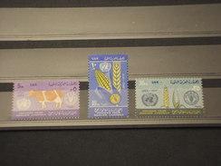 EGITTO - 1963 FAME 3 VALORI - NUOVI(++) - Ungebraucht