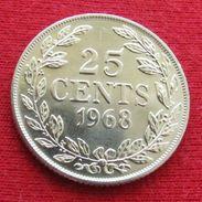Liberia 25 Cents 1968 KM# 16a.2 - Liberia