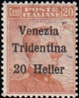 ITALIA AUSTRIA OCCUPATION -  Scott #N63 Victor Emmanuelle III 'Surcharged' / Used Stamp - Austrian Occupation