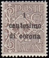 ITALIA AUSTRIA OCCUPATION -  Scott #N64 Numeral 'Surcharged' (*) / Mint NH Stamp - Austrian Occupation