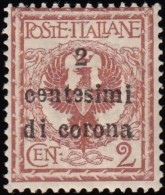 ITALIA AUSTRIA OCCUPATION -  Scott #N65 Coat Of Arms 'Surcharged' / Mint NH Stamp - Austrian Occupation