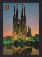 Postcard 1970s BARCELONA BARCELONE TEMPLE SAGRADA FAMILIA A. Gaudí ARCHITECTURE - Postcards