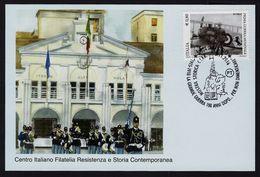 """2016 ITALIA """"LA GRANDE GUERRA 100 ANNI DOPO / MOSTRA CIFR"""" CARTOLINA ANNULLO 05.11.2016 (DERVIO) - Italia"""
