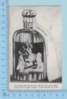 """Carte Fantaisie - Femme Dans Une Bouteille, """" Trew Lovers' Tonic, Cover Parry Sound 1908 Ont -  Postcard Carte Postale - Femmes"""