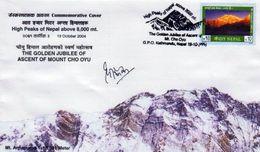 MT.ANNAPURNA COMMEMORATIVE COVER NEPAL 2004 MINT - Geologie