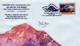 MT.MAKALU COMMEMORATIVE COVER NEPAL 2004 MINT - Geologie
