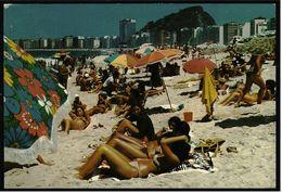 Rio De Janeiro  -  Copacabana Beach  -  Ansichtskarte Ca. 1983   (7712) - Rio De Janeiro