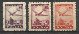 Poland - Air Mail 1946  **MNH .. SC# 14 , 16 , 18 - Ungebraucht