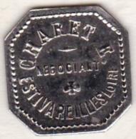 42 - LOIRE. Estivareilles . Charet , Négociant ,75 Centimes - Monétaires / De Nécessité