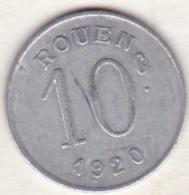 76 . Seine-Maritime. Rouen. Ligue Des Commerçants . 10 Centimes 1920 - Monetari / Di Necessità