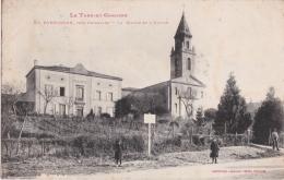 Bk - Cpa POMPIGNAN Près Grisolles - La Maire Et L'Eglise - Grisolles