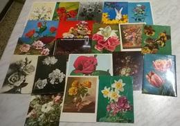 20 CART. DIVERSE: FIORI (17) - Cartoline
