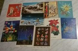 10 CART. DIVERSE: BUON NATALE (19) - 5 - 99 Cartoline