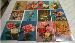 12 CART. DIVERSE: FIORI (24) - Cartoline