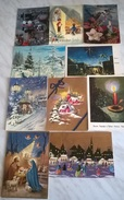 10 CART. DIVERSE: BUON NATALE (33) - Cartoline