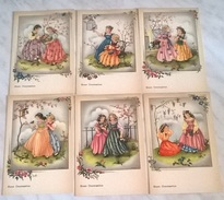 6 CART. DIVERSE: BUON ONOMASTICO DISEGNATE  (37) - Cartoline