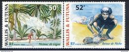 WF 1998 Serie N. 518-519 Pescatori MNH Cat. € 3 - Wallis E Futuna