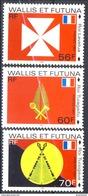 WF 1997 Serie N. 498 - 500 Tre Re MNH Cat. € 4.40 - Wallis E Futuna
