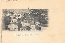 Fontenay-le-Comte (Vendée) - Vue Générale - Photogravure L. Amiaud - Carte Dos Simple - Fontenay Le Comte